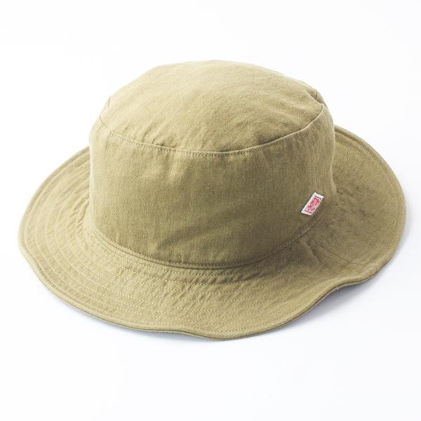 美品 2019SS 春夏 DANTON ダントン JD-7124MSL コットン リネン ハット/オリーブ 帽子 HAT【2400011489289】