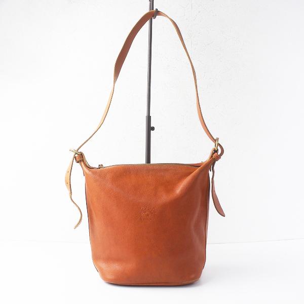 IL BISONTE イル ビゾンテ レザー ショルダー バッグ/ヤキヌメ かばん 鞄【2400011490551】
