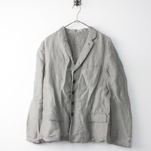 Vlas Blomme ヴラスブラム リネン リバーシブル ジャケット 1/グレー アウター 羽織り 上着 長袖【2400011491589】