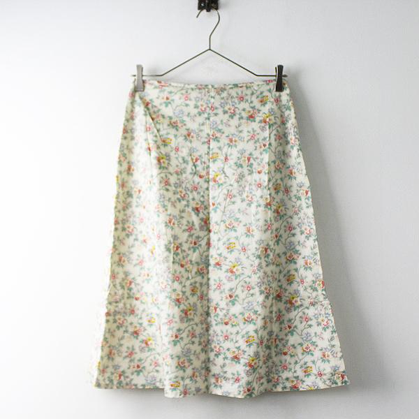 Hug O War ハグオーワー フラワープリント コットン 台形 スカート/ボトムス 花柄 フレア【2400011494917】