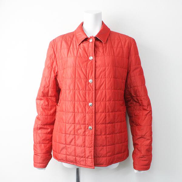 大きいサイズ BURBERRY LONDON バーバリーロンドン 裏地 ノバチェック 中綿 キルティング ジャケット 44/ 赤 アウター【2400011495525】