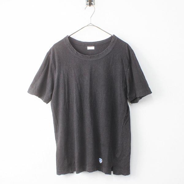 メンズ ORCIVAL オーシバル COTTON CREW NECK S/S TEE 天竺 コットン クルーネック Tシャツ 4/スミクロ トップス MENS【2400011498830】
