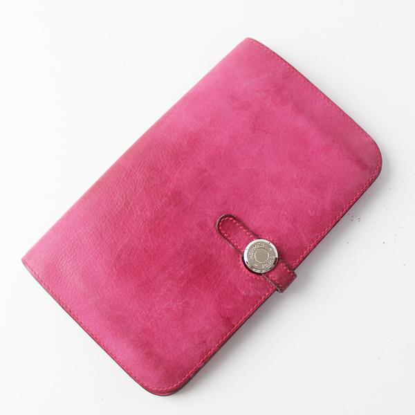 HERMES エルメス □K刻印 2007 Dogon ドゴン レザー ウォレット/小物 ピンク 財布 サイフ 【2400011500649】
