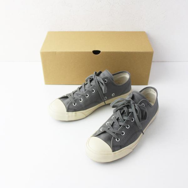 2018AW 定価1.5万 evam eva エヴァムエヴァ canvas sneaker キャンバス スニーカー 36/グレー 靴 くつ ローカット【2400011501134】
