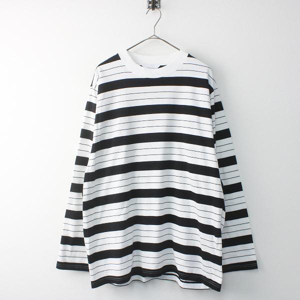2018FW UNUSED アンユーズド US1513 ロングスリーブ ボーダー Tシャツ 2/メンズ ホワイト×ブラック プルオーバー【2400011502094】