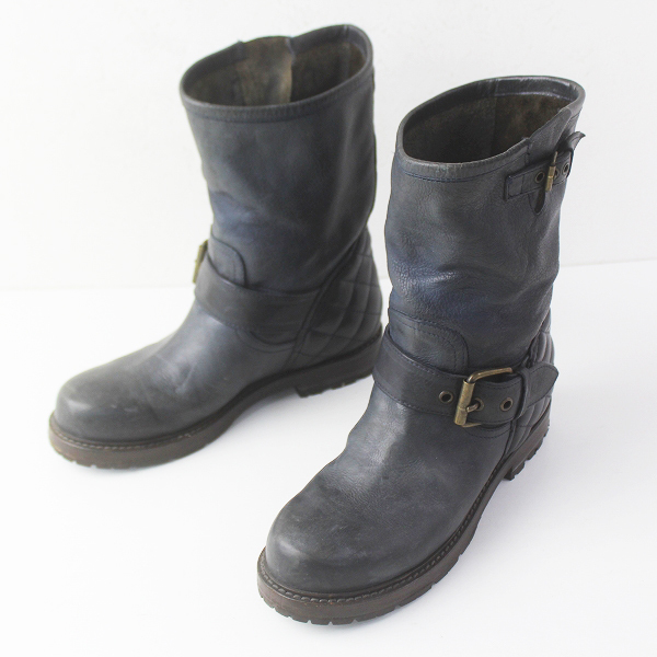 BUTTERO ブッテロ レザー エンジニア ブーツ 37/グレー 系 シューズ 靴 くつ【2400011503596】