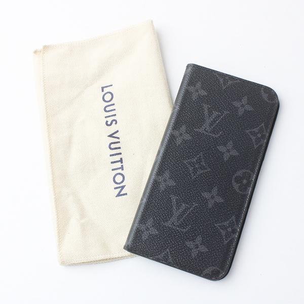 メンズ LOUIS VUITTON ルイヴィトン M62641 アイフォンカバー iPhone7+・フォリオ モノグラムエクリプス/クロ 小物 MENS【2400011504401】