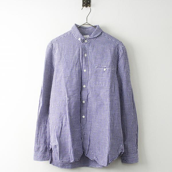 定価 1.6万 maillot マイヨ MAS-004 Sunset gingham work shirts ギンガム ワーク シャツ 2/メンズ パープル系【2400011504678】