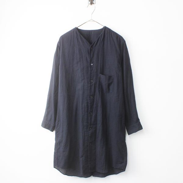 2018SS 春夏 ゴーシュ G181-B036 オーガニック アムンゼン チュニック シャツ 2/ネイビー ロングシャツ Vネック【2400011505132】