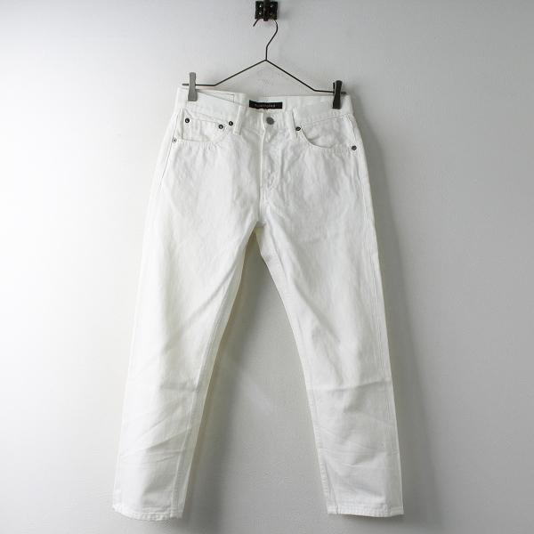mizuiro ind ミズイロインド 半端丈 ホワイト デニム パンツ 0/ホワイト ジップフライ クロップド ボトムス【2400011505989】