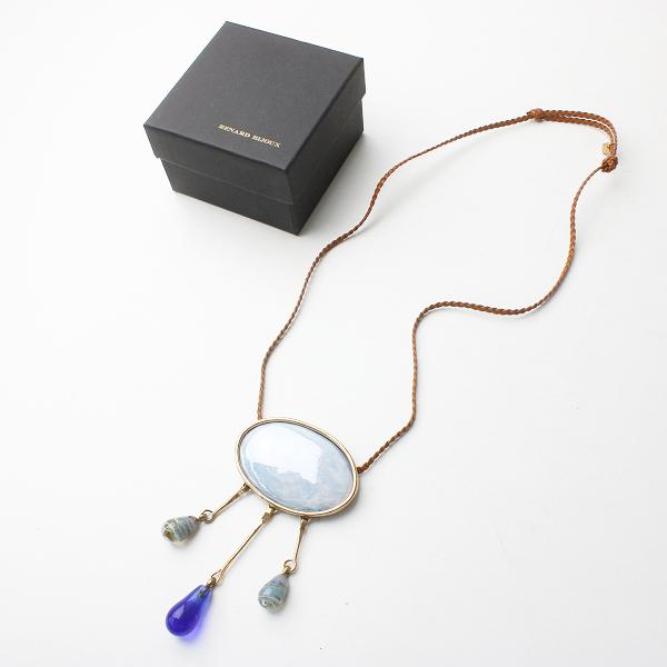 極美品 RENARD BIJOUX レナードビジュー ストーン 装飾 ネックレス/ブルー系 小物 アクセサリー【2400011507860】
