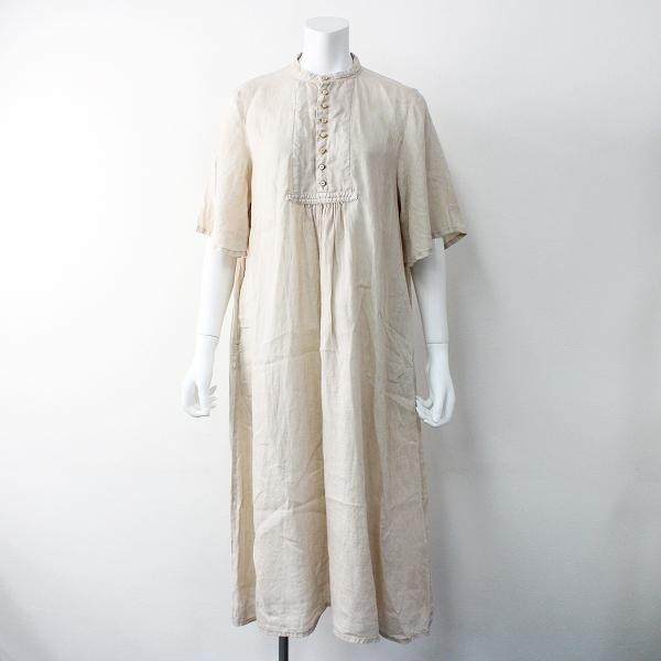 2019SS 春夏 nest Robe ネストローブ 01192-2038 Natural dye linen dress リネン 天然染め ワンピース F【2400011509215】
