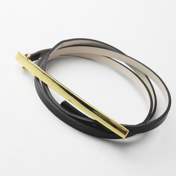 美品 定価2.2万 B-low the belt ビーローザベルト PLATE BERT/ブラック クロ アクセサリー 小物 細ベルト 【2400011509741】