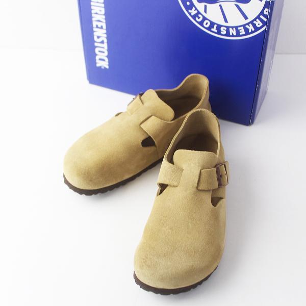 BIRKENSTOCK ビルケンシュトック ロンドン スエード シューズ 25.0/ベージュ 靴【2400011511690】
