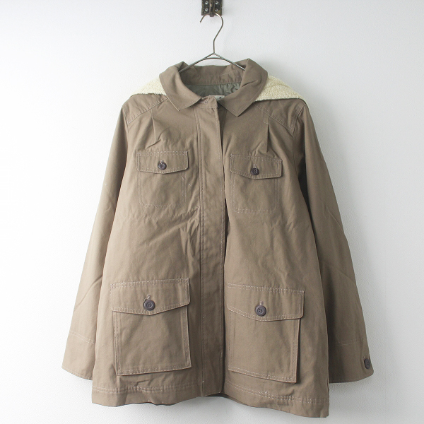 未使用 定価1万 SM2 サマンサモスモス コットン 中綿 ボアフード ジャケット M/モカ アウター 上着 羽織り【2400011512741】