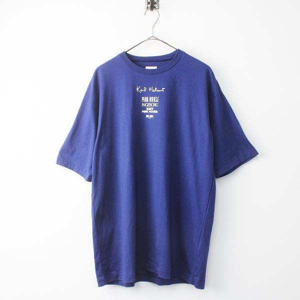 KARL HELMUT カールヘルム ピンクハウス ブランド ロゴ プリント Tシャツ L/トップス ネイビー カットソー メンズ MENS【2400011518576】