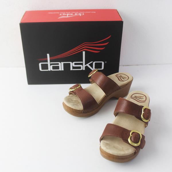 Dansko ダンスコ SOPHIE soft full grain レザー ベルト サンダル 35/ブラウン ダブルストラップ クツ【2400011518996】
