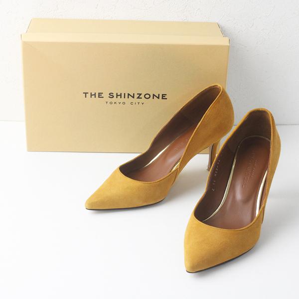 美品 2017 SHINZONE シンゾーン スエードレザーポインテッドトゥ パンプス 36/キャメル 靴 シューズ【2400011520364】