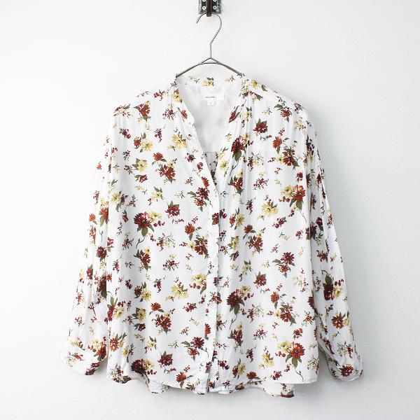 niko and... ニコアンド 花柄 長袖 シャツ 4/ホワイト 白 トップス フローラル【2400011523549】