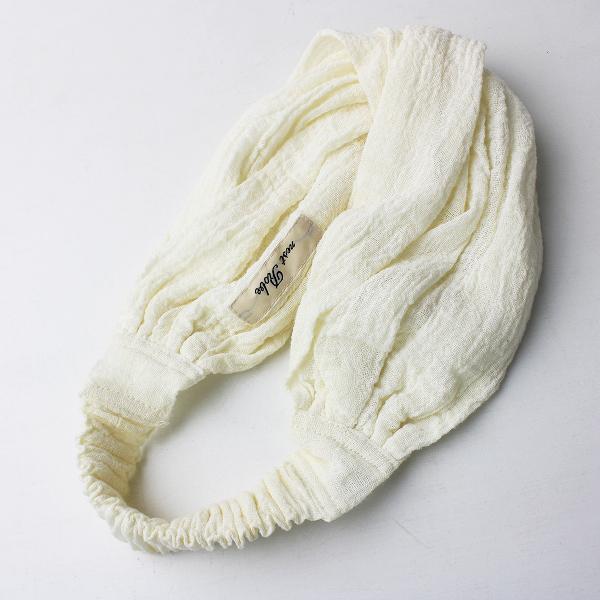 nest Robe ネストローブ リネン ヘアバンド/ホワイト ヘアアクセサリー 小物 ターバン【2400011525123】