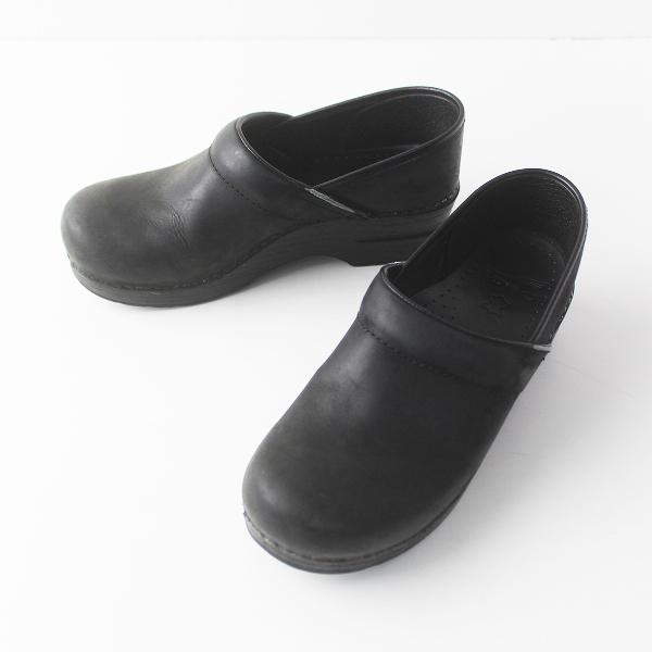dansko ダンスコ PROFESSIONAL コンフォート クロッグ サボ サンダル 38/ブラック シューズ 靴【2400011527288】