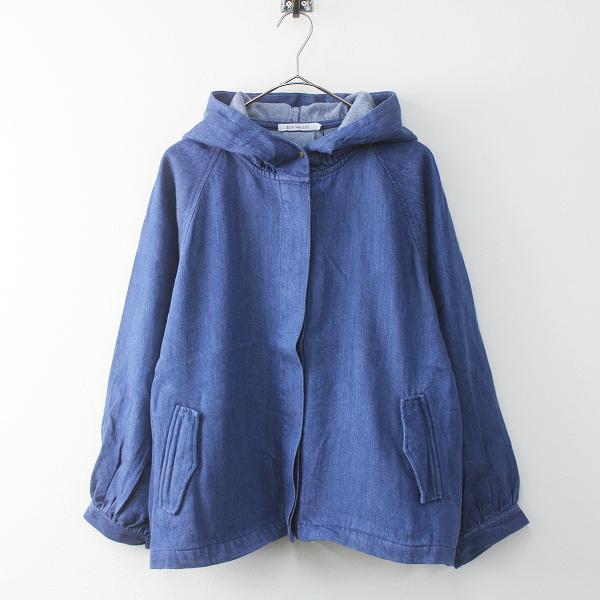 未使用 SUN VALLEY サンバレー テンセル デニム フード ジャケット M/ブルー アウター 上着 羽織り【2400011535023】