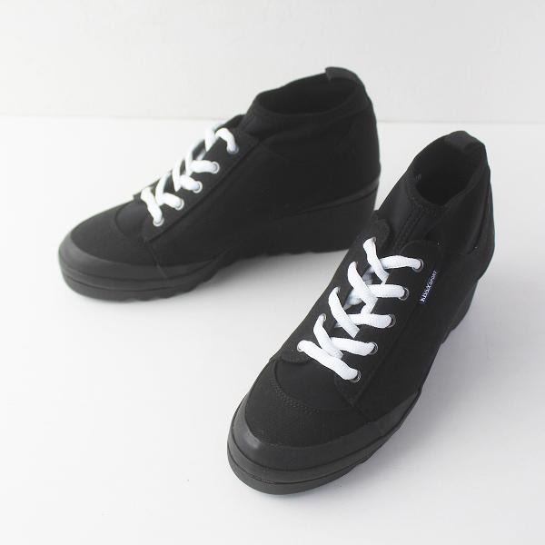 KISSA SPORT キサスポーツ インヒール スニーカー 24.5/ブラック 靴 シューズ くつ【2400011536037】