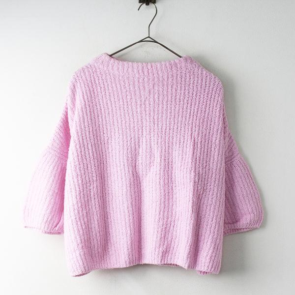 Ron Herman ロンハーマン コットン ニット プルオーバー XS/ピンク トップス 長袖 セーター【2400011537249】