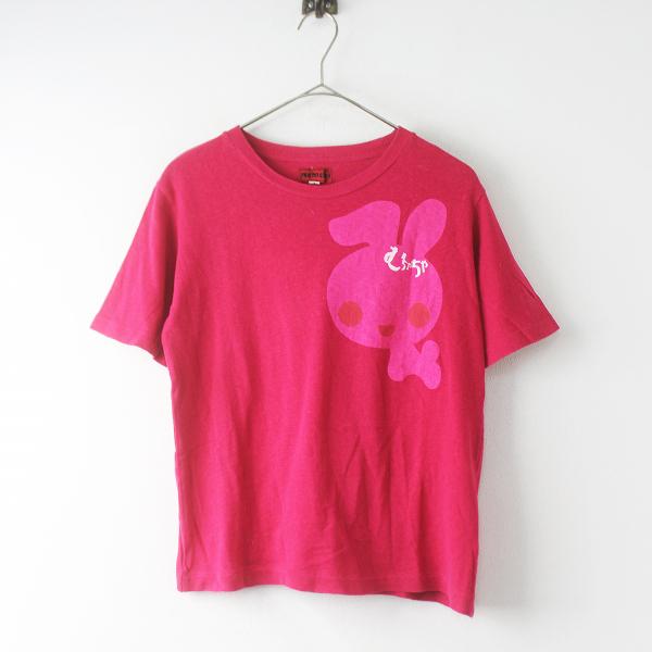 Ahcahcum muchacha あちゃちゅむ ムチャチャ プリント Tシャツ 1/ピンク トップス 大人サイズ 【2400011538413】