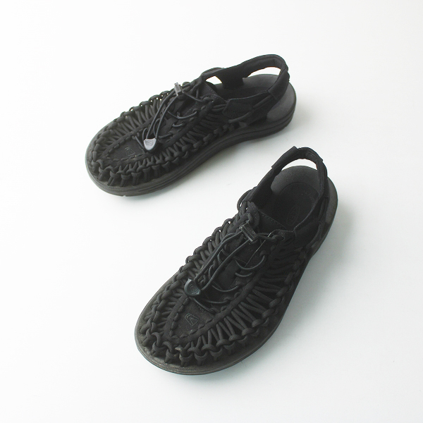 KEEN キーン ユニーク バックストラップ サンダル 24.0/ブラック 靴 シューズ【2400011538963】
