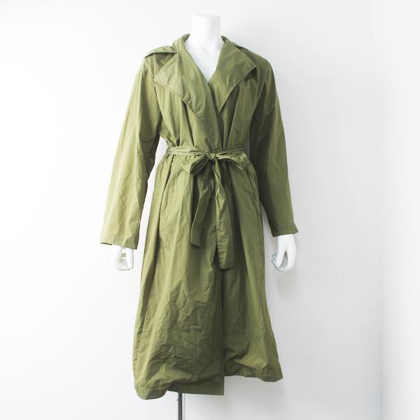 GRANDMA MAMA DAUGHTER グランマママドーター ナイロン トレンチ コート 0/カーキ アウター 羽織り【2400011543455】