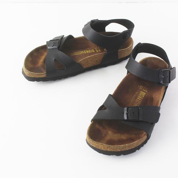 BIRKENSTOCK ビルケンシュトック RIO ストラップ サンダル 22.5/ブラック シューズ 靴【2400011546661】