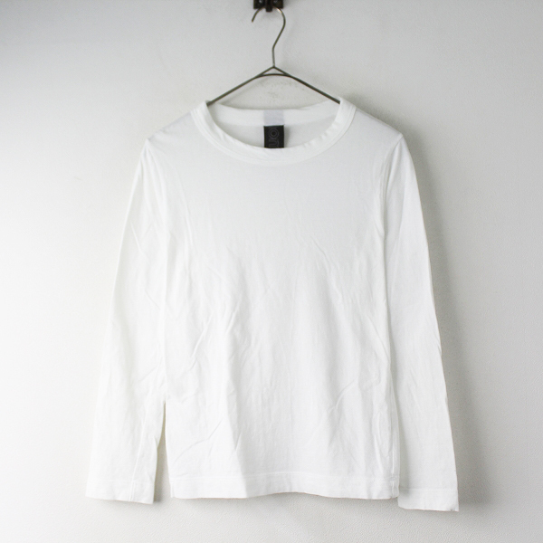 homspun ホームスパン 長袖 コットン Tシャツ S/ホワイト トップス カットソー 無地【2400011549150】