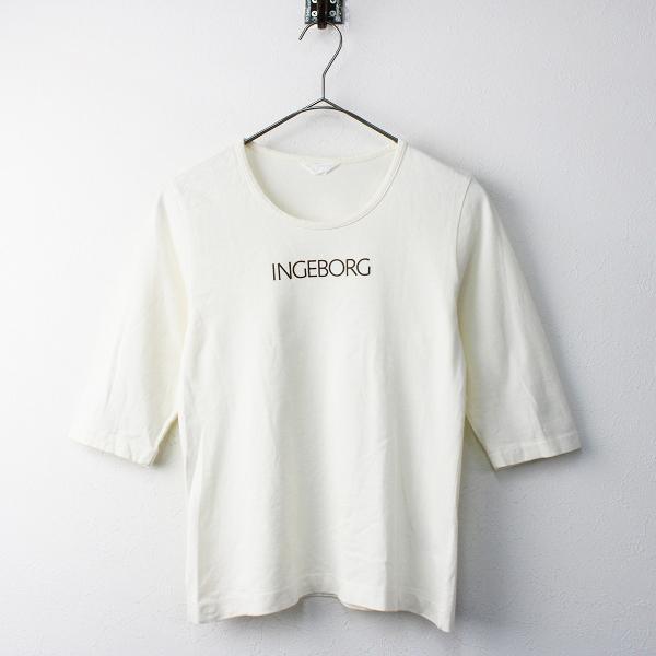 INGEBORG インゲボルグ ロゴプリント Tシャツ/トップス カットソー プルオーバー 半袖【2400011551337】