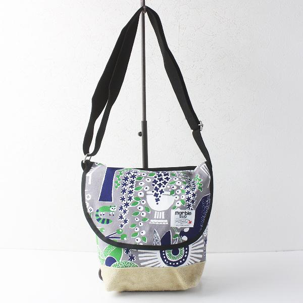 marble SUD マーブルシュッド FIKA ショルダーバッグ/グレー メッセンジャー 肩掛け 鞄【2400011551580】