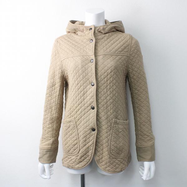 ARMEN アーメン コットン キルティング ジャケット/ベージュ アウター 上着 羽織り フード付き【2400011551603】