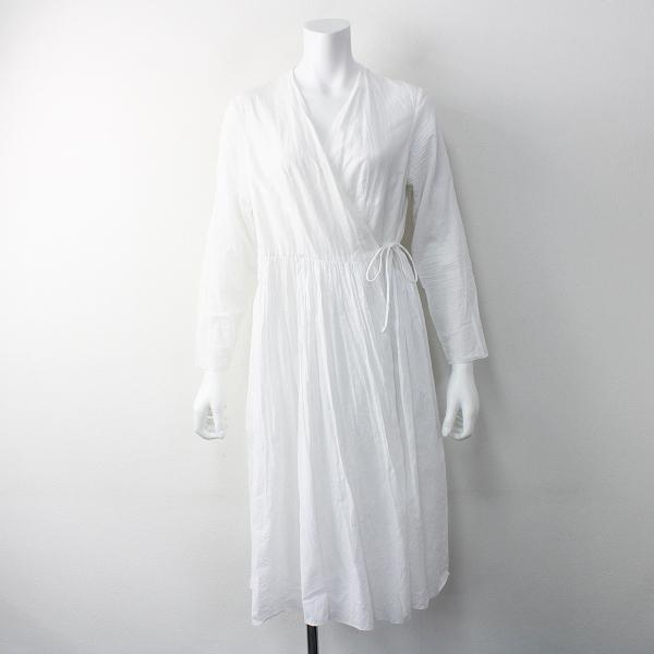 YAECA ヤエカ コットン カシュクール 2WAY ワンピース M/ホワイト ロング ドレス フレア【2400011555496】