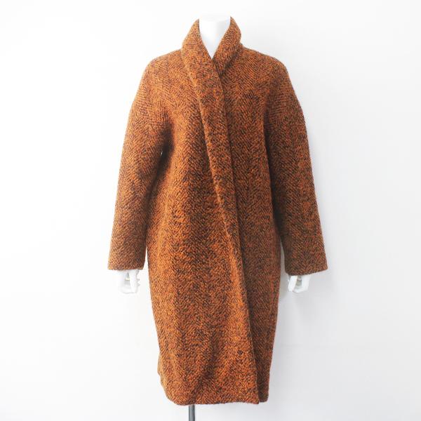 Stunning Lure スタニングルアー ヘリンボーン シャギー コート 2/オレンジ アウター 上着【2400011555816】