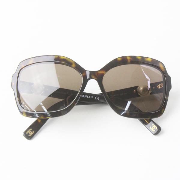 CHANEL シャネル パール サングラス 5132-H 58□16 135/ブラウン アイウェア アクセサリー 小物 眼鏡 ロゴ【2400011556110】