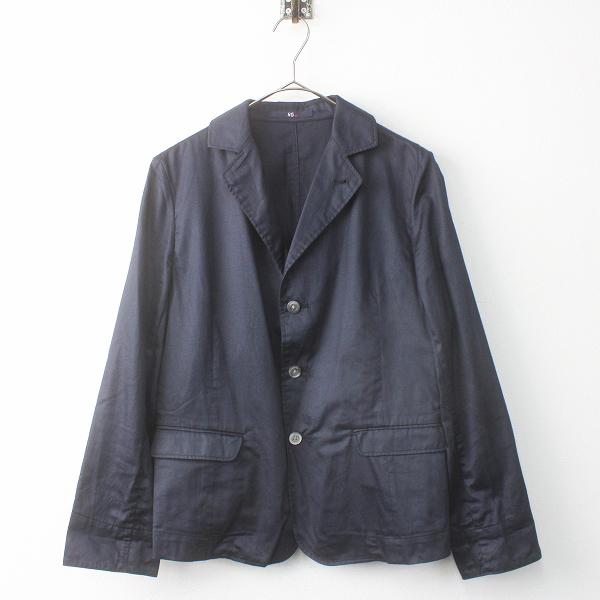 美品 定価3.8万 45R フォーティファイブ コットン 3釦 ジャケット 2/ネイビーアウター 上着 羽織り【2400011556349】