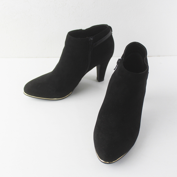 ORiental TRaffic オリエンタルトラフィック スエードブーティー L/ブラック ブーツ ショートブーツ【2400011557636】