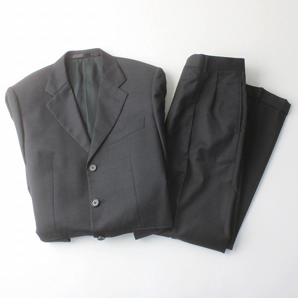 Paul Smith ポールスミス ZIGNONE社 SUPER100's シングル パンツスーツ S/ダークグレー メンズ 上下【2400011559326】