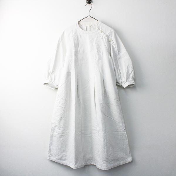 2019SS 春夏 定価3.8万 susuri ススリ 19-206 コットン チルコ ワンピース 1/ホワイト ドレス 刺し子【2400011559777】