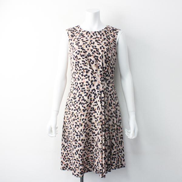 極美品 定価4.2万 EPOCA THE SHOP エポカ ジョーゼット アニマル プリント ドレス N1J-73-850-40 38///ピンク ワンピース【2400011560261】