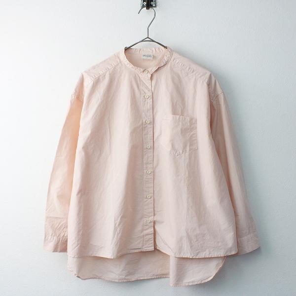 2017SS bulle de savon ビュルデサボン コットン バンドカラーシャツ F/ピンク トップス 長袖【2400011560438】