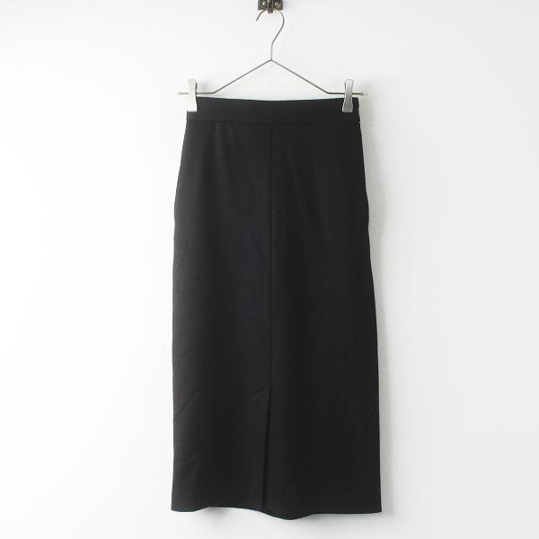 Chaos カオス ウール タイト スカート 34/ブラック ボトムス ウエストバックゴム スリット【2400011561237】