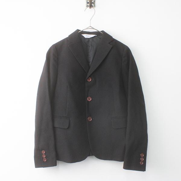 美品 Ebonyivory エボニーアリボリー ウール ジャケット F/ブラック アウター 羽織り【24000115624631】