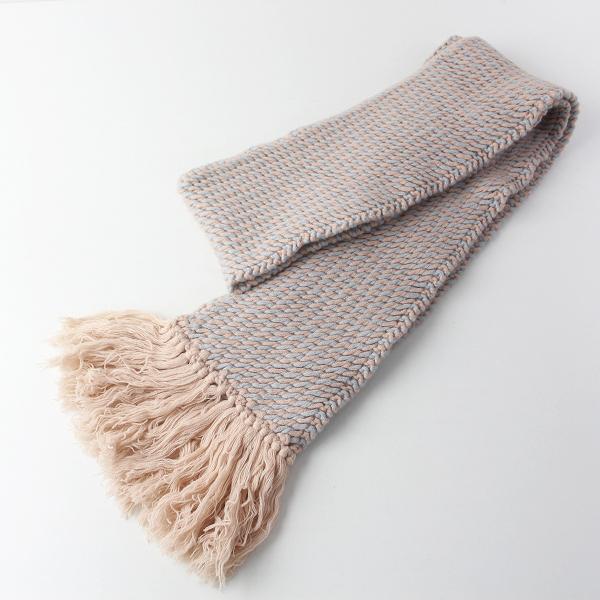 karakoram accessories カラコラムアクセサリーズ ウール ニット マフラー/ピンクベージュ 小物 ストール【2400011565709】