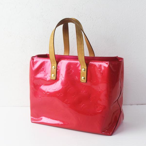LOUIS VUITTON ルイヴィトン M91988 リード PM モノグラム エナメル ハンド バッグ/レッド 赤 鞄 BAG【2400011565778】