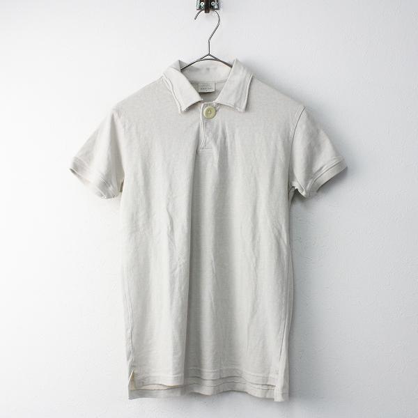 KAPITAL キャピタル コットン 1B ポロシャツ 1/ライトベージュ トップス 半袖 無地【2400011565921】